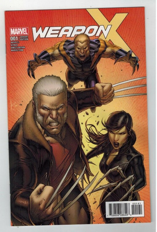 Weapon X #1 (June 2017 Marvel) Dale Keown 1:25 Variant Wolverine X-23 Sabretooth