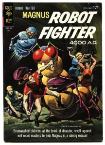 MAGNUS ROBOT FIGHTER #6 1964 GOLD KEY-RUSS MANNING-ROBOT COVER VF