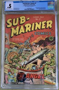 Sub-Mariner Comics #2 (1941) CGC .5 or 0.5 -- Stan Lee text story; Schomburg cvr
