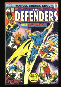 Defenders #28 FN+ 6.5 1st Full Starhawk! Marvel Comics