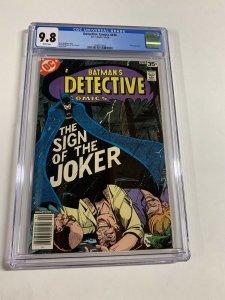Detective Comics 476 Cgc 9.8 White Pages Joker Dc Comics