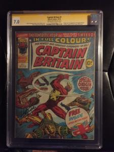 Captain Britain #1 Cgc 7.0 SS Herb Trimpe