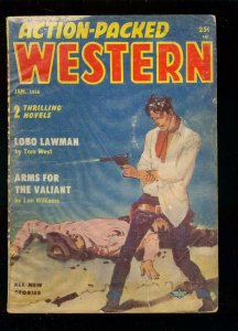 ACTION-PACKED WEST PULP-JAN 1956-BUTCH CASSIDY-SUNDANCE VG
