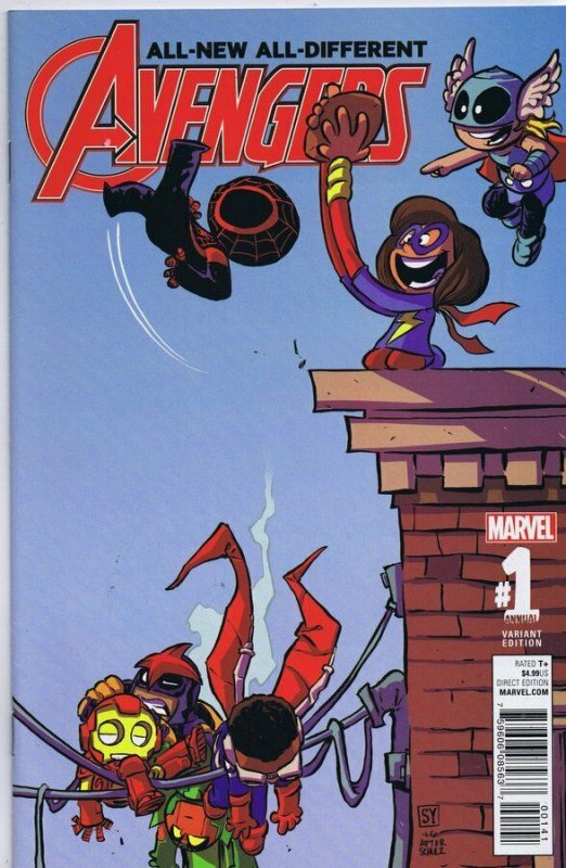 Avengers Annual #1 ORIGINAL Vintage 2016 Marvel Comics Skottie Young Variant