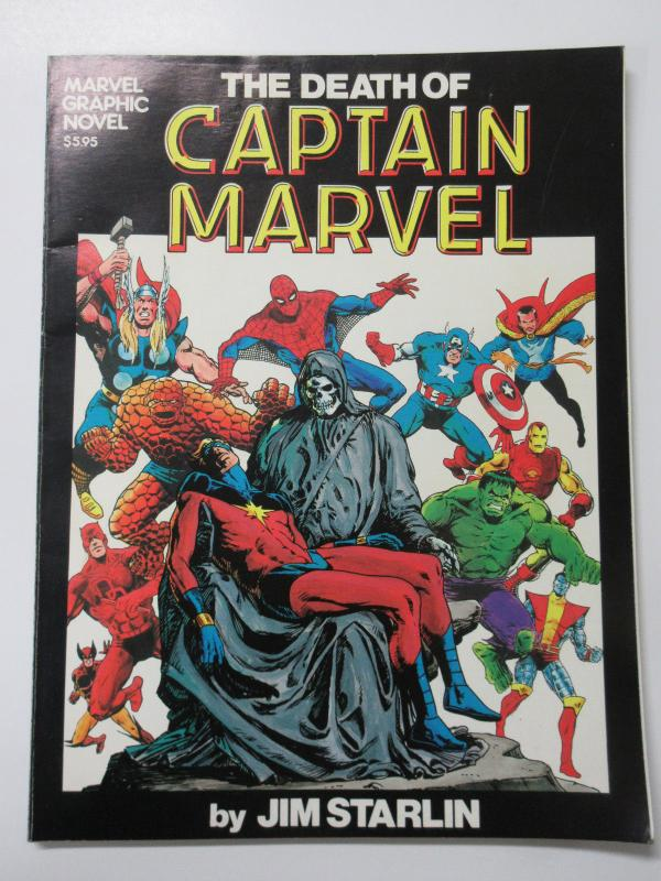 Death of Captain Marvel- Graphic Novel #1 Third 3rd Printing by Jim Starlin A