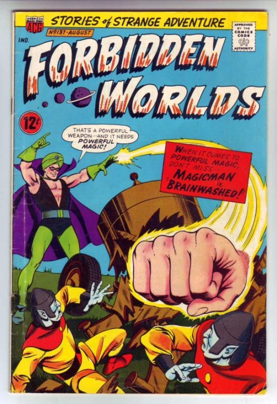 Forbidden Worlds #137 (Aug-66) FN/VF Mid-High-Grade Magicman