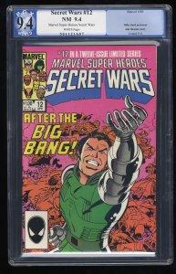 Marvel Super-Heroes Secret Wars #12 PGX NM 9.4