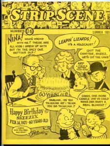 Strip Scene Fanzine #16 1981- comic strips- Tarzan checklist VF