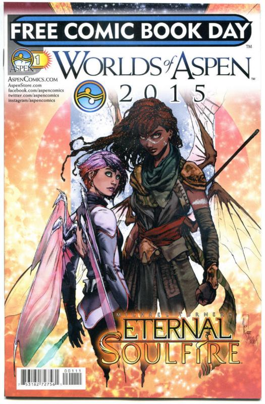 WORLDS OF ASPEN #1, NM, FCBD, Eternal Soulfire, 2015, more Promo/items in store