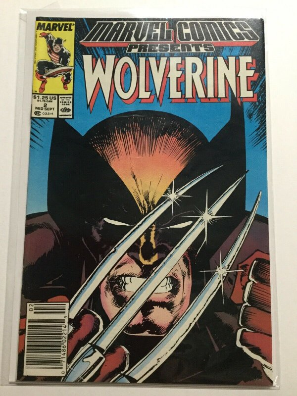 Marvel Comics Presents 2 Near Mint Nm Wolverine Newsstand Edition Marvel
