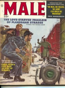 Male 3/1959-Atlas-Mort Kunstler-James Bama-pulp thrills-cheesecake-VG