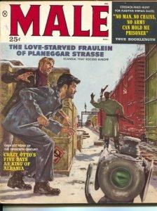 Male 3/1959-Atlas-Mort Kunstler-James Bama-pulp thrills-cheesecake-VG