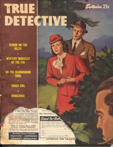 True Detective 9/1946-MacFadden-Ozni Brown-FBI mysteries-pulp crime-G