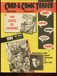 CARD AND COMIC TRADER 1994 FEB-JIM LEE-MARK SILVESTRI FN/VF