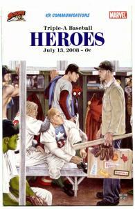 Triple-A Baseball Heroes #2 2008- Marvel Comics RARE Buffalo Bisons