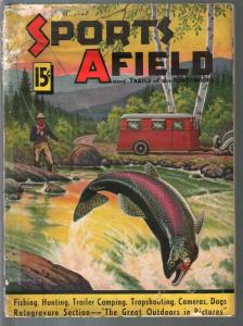 Sports Afield 3/1937-wilwerding cover-hunting & fishing-pix-ads-FR/G