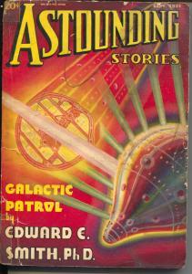Astounding Stories 9/1937-Clayton-sci-fi pulp thrills-Smith-Galactic Patrol-FR