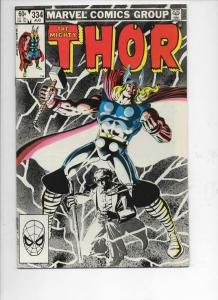 THOR #334 VF/NM God of Thunder RuneQuest 1966 1983, more Thor in store, Marvel