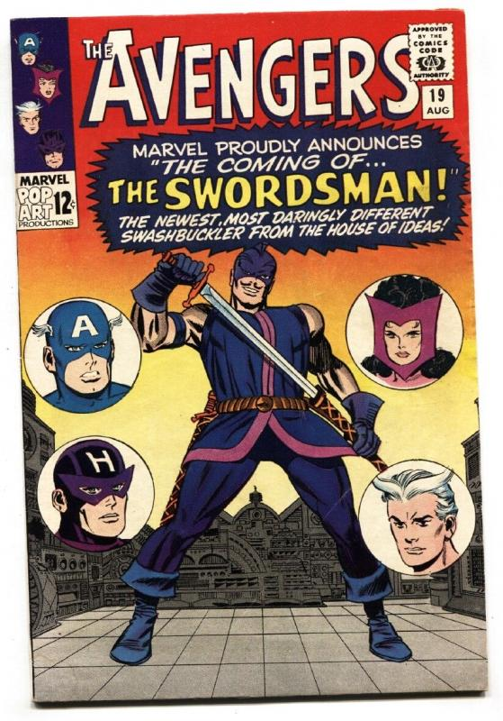 AVENGERS #19 1965 Marvel comic book-1st Swordsman-Origin of Hawkeye