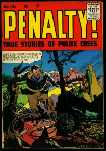 Penalty #48 1956- Geiger Counter cover- Silver Age crime- G/VG