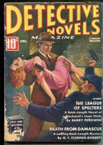 DETECTIVE NOVELS  4/1938-MYSTERY & CRIME PULP-2ND ISSUE-FLEMING-ROBERTS-good