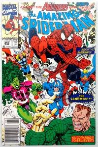 The Amazing Spider-Man #348 NEWSSTAND (VF/NM)(1991)