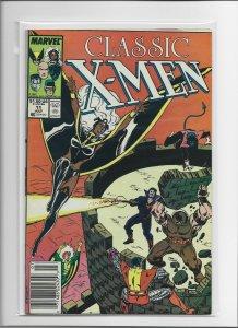Lot of 9 Classic X-Men Marvel Comics, All Newsstand Editions, Copper Age, VG-FN+