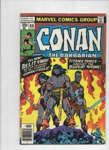 CONAN the BARBARIAN #88 FN, Buscema, Ernie Chan, Howard, 1970 1978 Belit