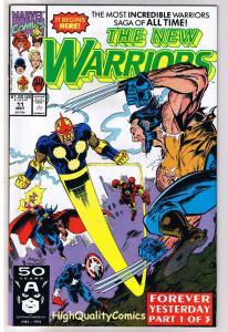NEW WARRIORS 11, NM+, Nova, Wolverine, Iron Man, 1990, more Marvel in store