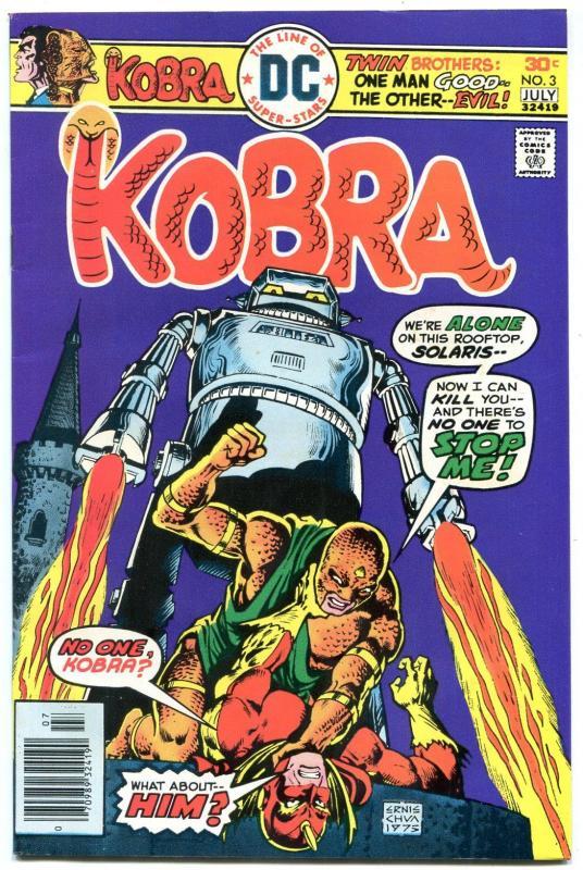 KOBRA #3 1976-GREAT DC ISSUE-HIGH GRADE VF