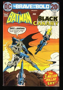 Brave And The Bold #107 NM 9.4 White Pages Batman Black Canary!