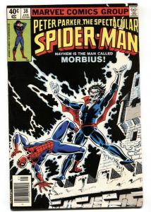 SPECTACULAR SPIDER-MAN #38 Comic Book 1979 Morbius issue-VF