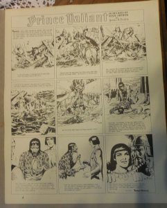 Prince Valiant by Hal Foster Syndicate Proof 9/1/1940  Size 16 x 20 inches