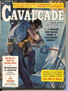 Cavalcade 9/1959-John Whitcomb-dime novels-Dali Lama-cheesecake-VG