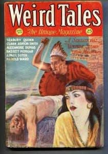 Weird Tales 3/1932-human sacrifice cover-Vampires-Pulp Magazine