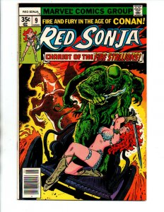 Red Sonja She Devil with a Sword #9 newsstand- Frank Thorne - Marvel - 1977 - VF