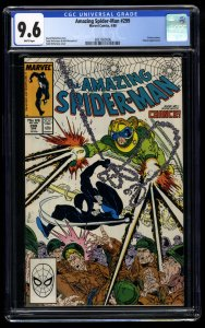 Amazing Spider-Man #299 CGC NM+ 9.6 White Pages 1st Venom Cameo!