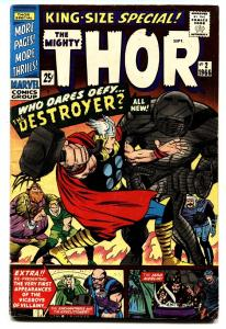 THOR ANNUAL #2-comic book THE DESTROYER!-MARVEL-JACK KIRBY-SILVER AGE