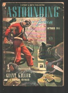 Astounding Science-Fiction 10/1945-Murray Leinster-A.E Van Vogt pulp fiction-G