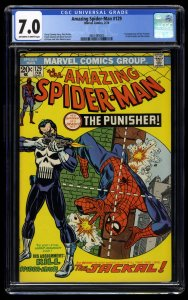Amazing Spider-Man #129 CGC FN/VF 7.0 Off White to White 1st Punisher!