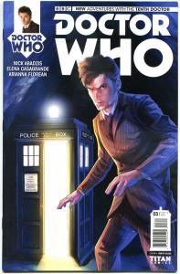 DOCTOR WHO #3 A, VF/NM, 10th, Tardis, 2014, Titan, 1st, more DW in store, Sci-fi