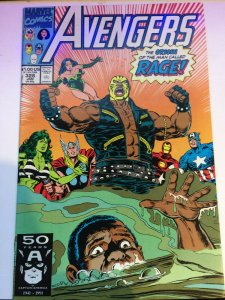 Avengers #328 1991 Origin of Rage! FN See Pictures!! Marvel Captain America Thor