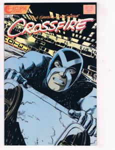 Crossfire #24 VF/NM Eclipse Comics Comic Book Evanier 1985 DE47 AD33