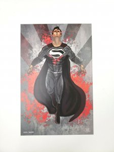 SUPERMAN Comic Art Print by Nate Johnson Limited Edition 110/2150 Comic Tom Excl