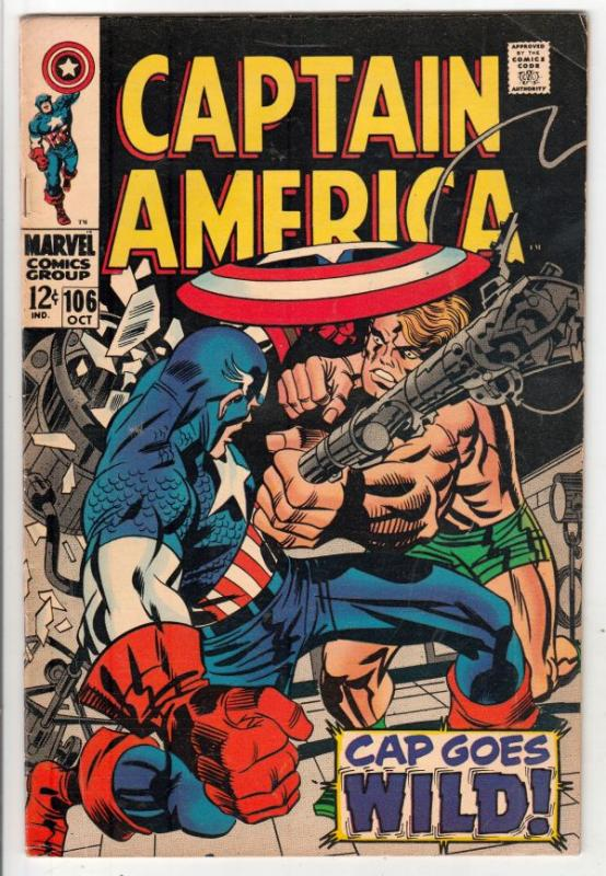 Captain America #106 (Oct-68) FN/VF- Mid-High-Grade Captain America