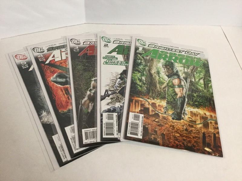 Green Arrow 1-5 Brightest Day Lot Nm Near Mint DC Comics A42