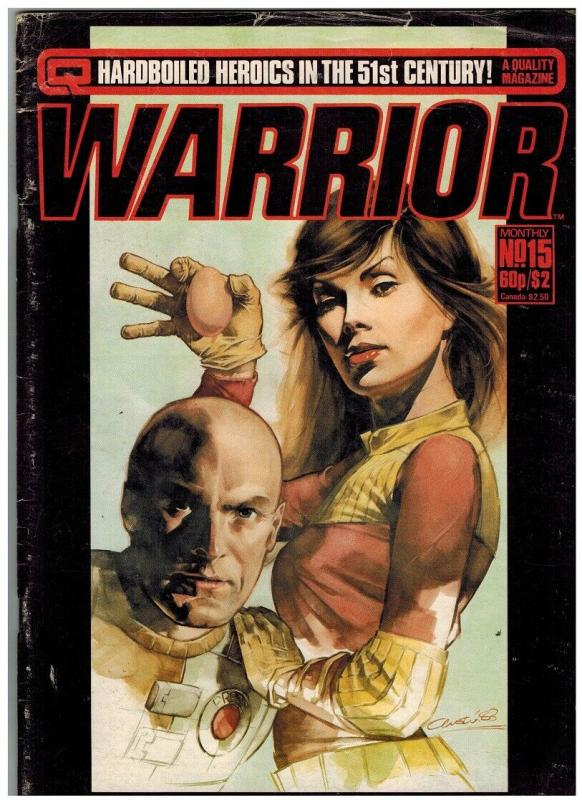 WARRIOR (1982 QUALITY) 15 GOOD ALAN MOORE+++++