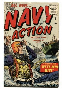Navy Action #8 1955- Battleship Burke- comic book VG+