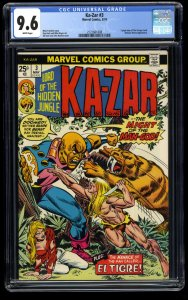 Ka-Zar (1974) #3 CGC NM+ 9.6 White Pages