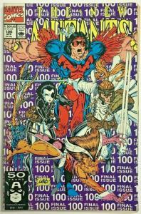 NEW MUTANTS#100 VG 1991 FIRST X-FORCE MARVEL COMICS